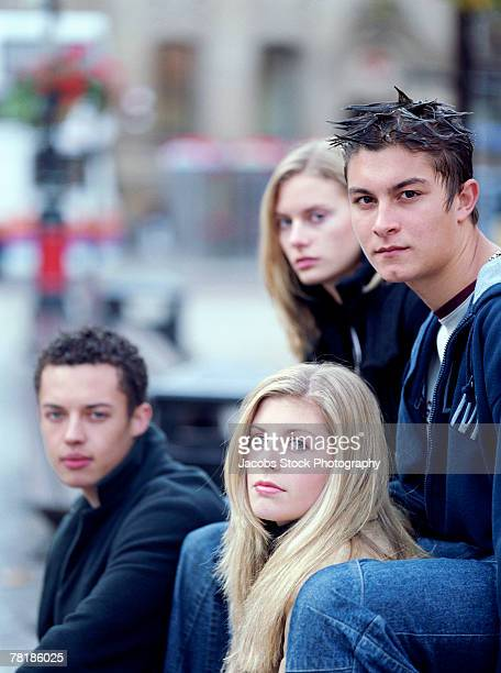 Portrait of urban friends
