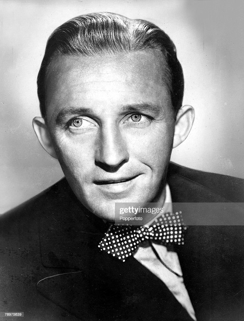 A Portrait of US crooner and actor <a gi-track='captionPersonalityLinkClicked' href=/galleries/search?phrase=Bing+Crosby&family=editorial&specificpeople=90412 ng-click='$event.stopPropagation()'>Bing Crosby</a>