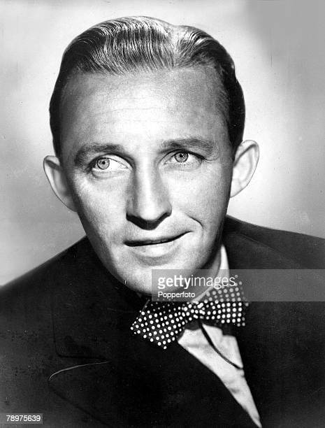 A Portrait of US crooner and actor Bing Crosby