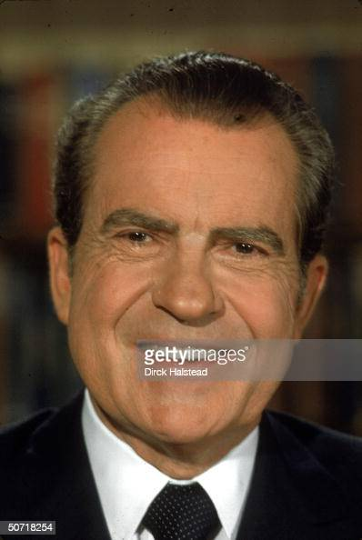 Portrait of US President Richard Nixon