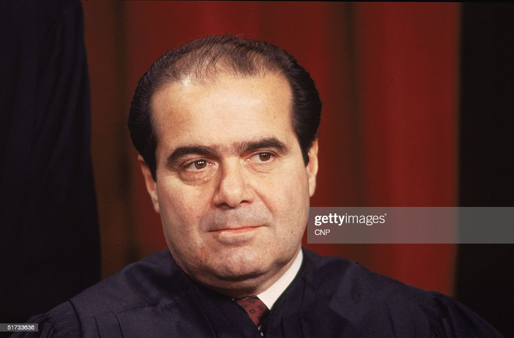 Portrait of US Supreme Court Associate Justice Antonin Scalia December 3 1993