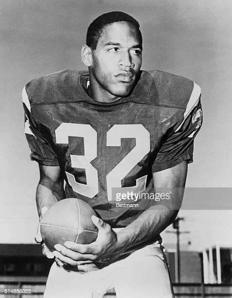 Portrait of USC AllAmerican running back OJ Simpson He would go on to win the Heisman Trophy in 1968 play many years for the Buffalo Bills in the NFL...
