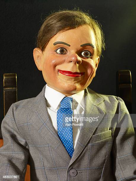 Portrait of Ventriloquist doll in chair
