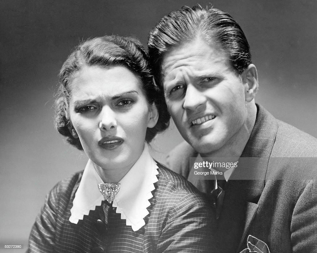 Portrait of very angry couple : Stock Photo