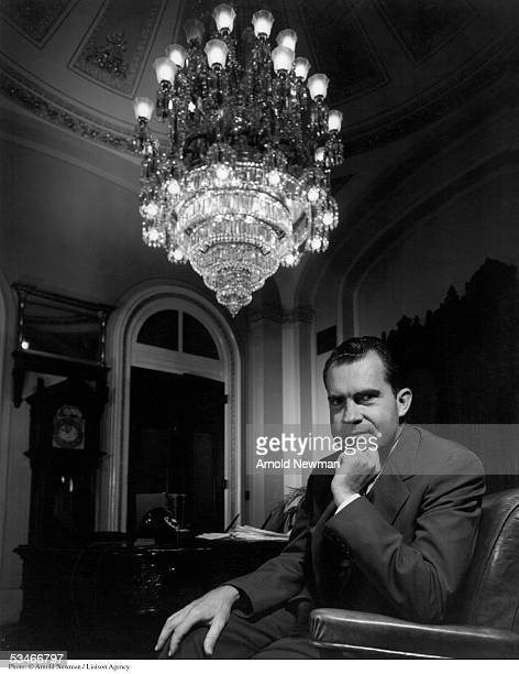 Portrait of Vice President Richard Nixon July 16 1956 in Washington DC