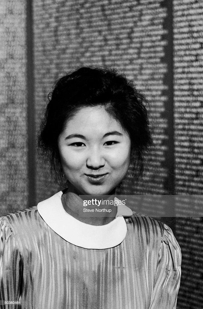 Portrait of Vietnam Memorial designer Maya Yin Lin.