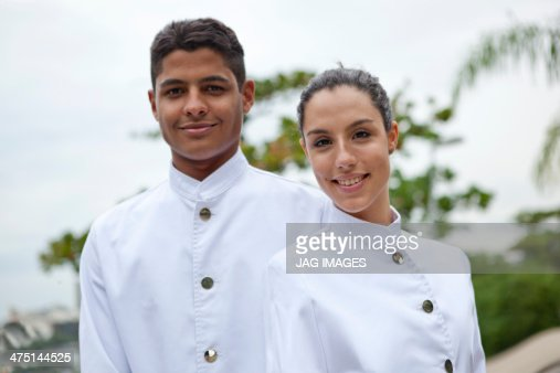 Portrait of waiter,and waitress, Rio de Janeiro, Brazil : Stock Photo