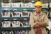 Portrait of warehouse worker