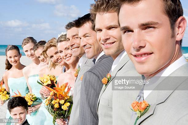 Portrait of wedding party