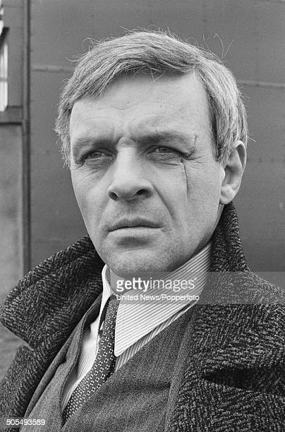 Portrait of Welsh actor Anthony Hopkins pictured in character as Ravic from the film Arch of Triumph in London on 3rd May 1984