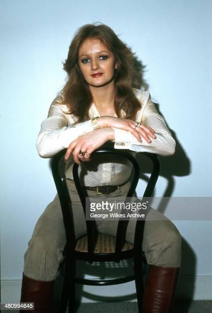 Portrait of Welsh musician Bonnie Tyler London England 1978