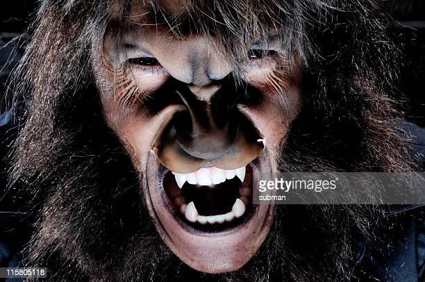 Retrato de hombre lobo
