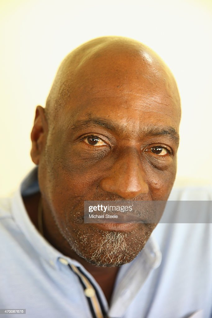 A portrait of West Indian cricket legend Sir Vivian Richards during day five of the 1st Test match between West Indies and England at the Sir Vivian Richards Stadium on April 17, 2015 in Antigua, Antigua and Barbuda.