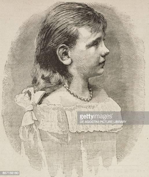 Portrait of Wilhelmina Queen of the Netherlands illustration from Il Secolo Illustrato della Domenica Year II No 61 November 30 1890