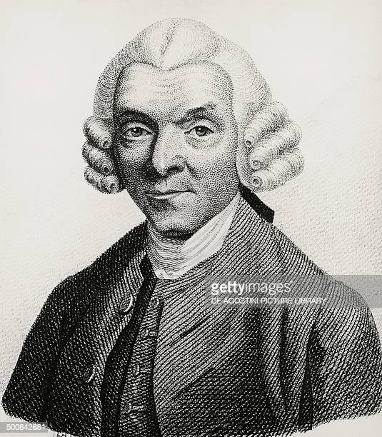 Portrait of William Hunter Scottish anatomist and obstetrician engraving