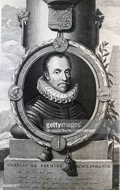 Portrait of William I known as William the Taciturn Prince of Orange Count of Nassau engraving The Netherlands 16th century