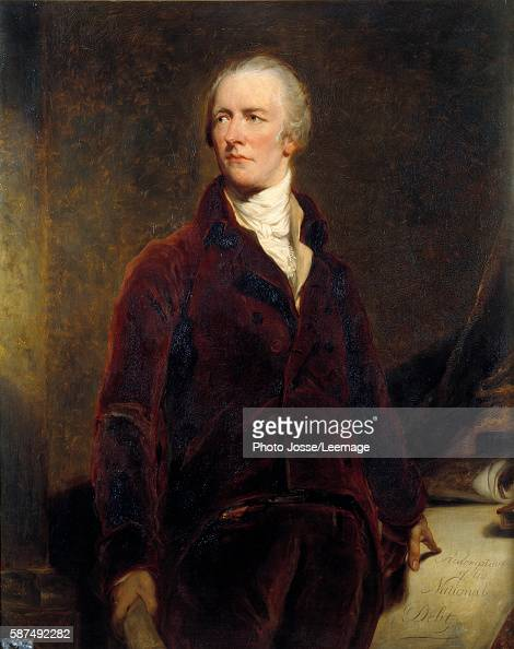 Portrait of William Pitt Chancellor of the Exchequer of Great Britain Painting by George Healy 19th century after Sir Thomas Lawrence 1844 127 x 102m...