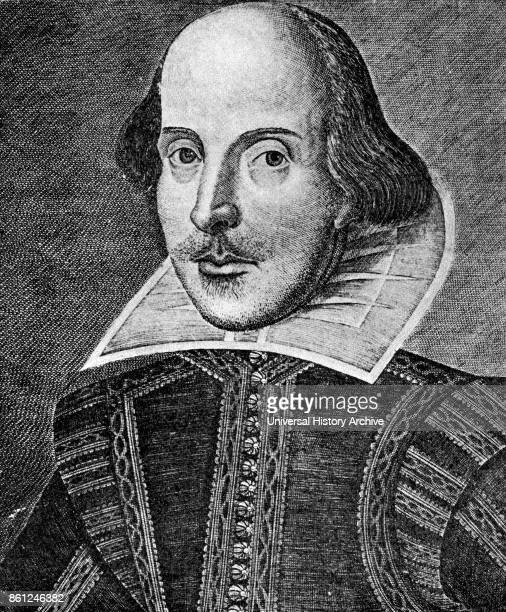 Portrait of William Shakespeare an English poet playwright and actor Dated 17th Century