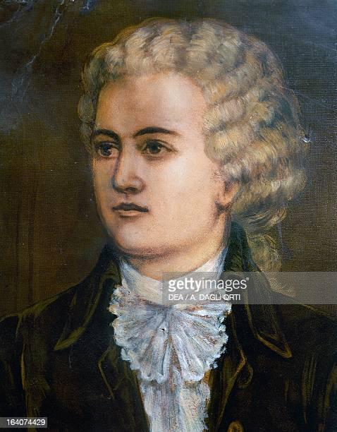 Portrait of Wolfgang Amadeus Mozart Austrian composer Detail Prague Vila Bertramka Muzeum WA Mozarta A Manzelu Duškovych