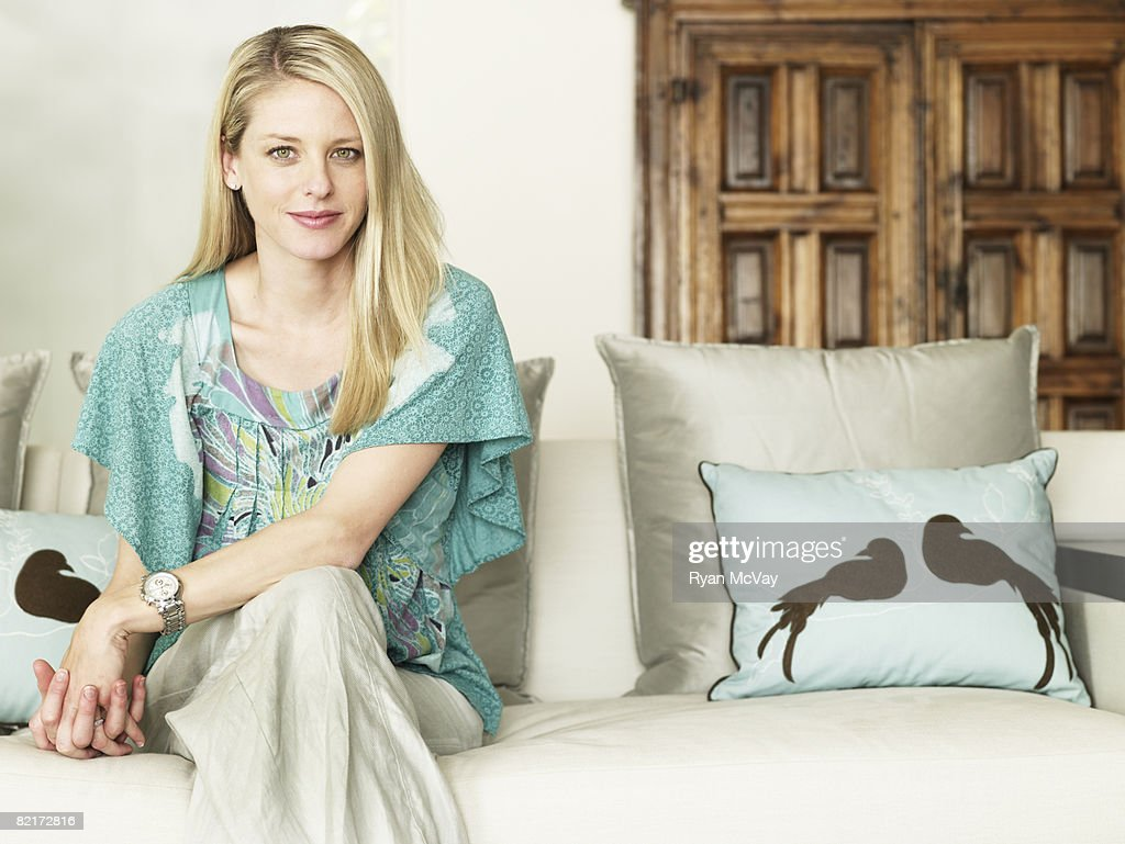 Portrait of Woman at home : Stock Photo