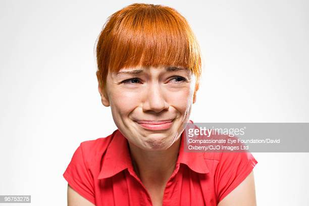 portrait of woman crying