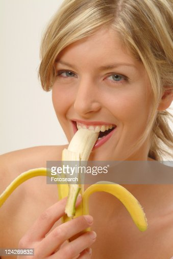 Milf plays with bananas and toys 9