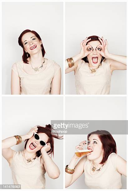 Portrait of woman having fun