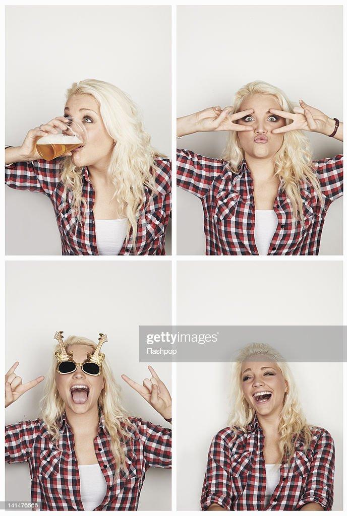 Portrait of woman having fun : Stock Photo