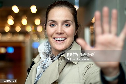 Portrait of woman in airport