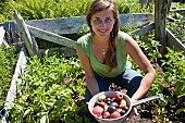 Portrait of Woman in her organic garden