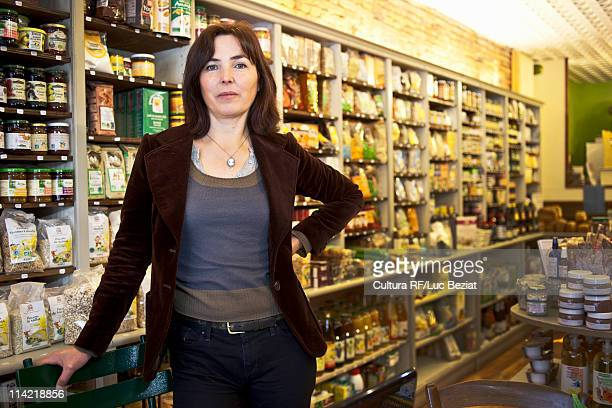 Portrait of woman in her shop