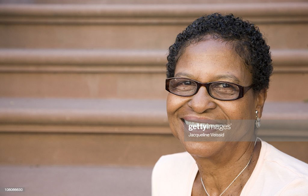 Portrait of woman in her sixties : Stock Photo