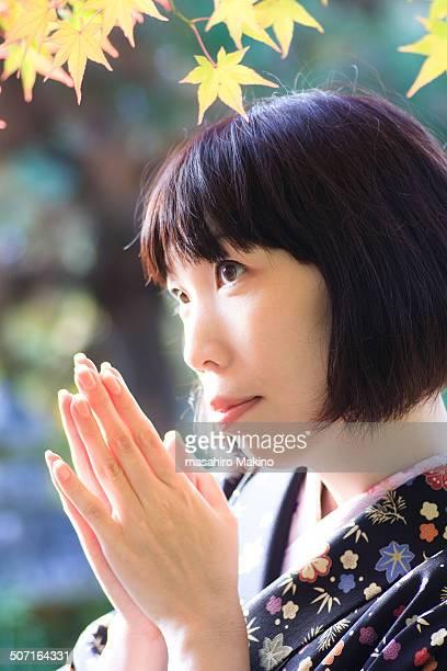 Portrait of Woman in Kimono
