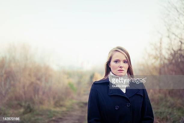 Portrait of woman in park