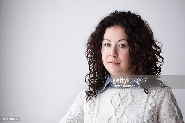 Portrait of woman in sweater