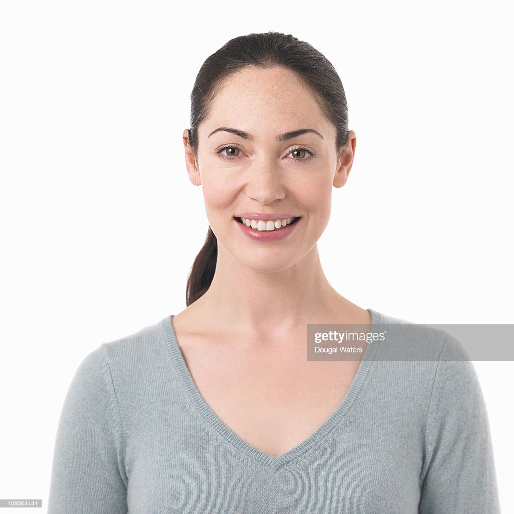 Portrait of woman smiling. : Stock Photo