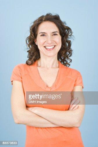 Portrait of woman smiling. : Stock Photo