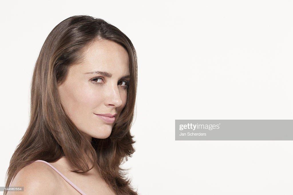 Portrait of woman,  studio shot : Stock Photo