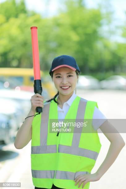 Portrait of woman traffic controller