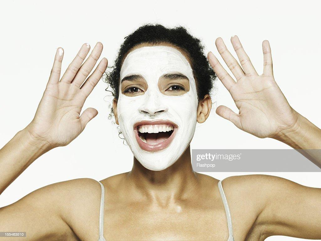 Portrait of woman wearing face mask