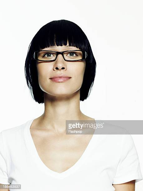 Portrait of woman wearing glasses