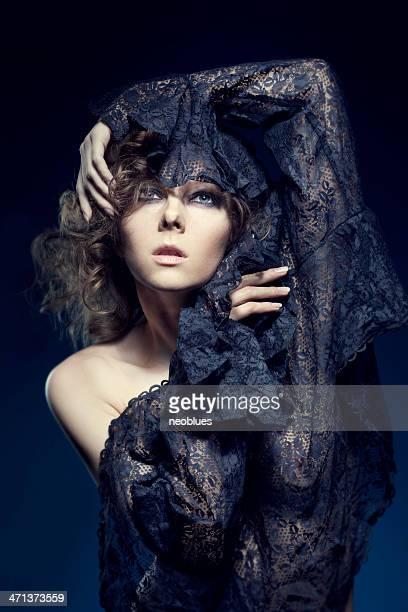 Portrait of Woman Wearing Lace