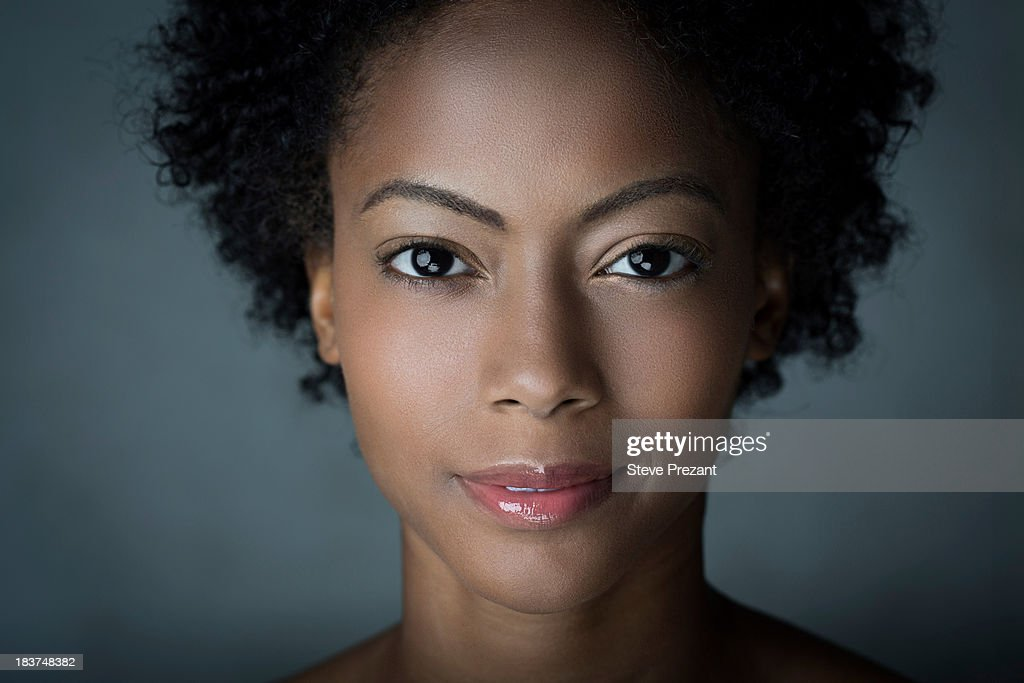 Portrait of woman with afro hair