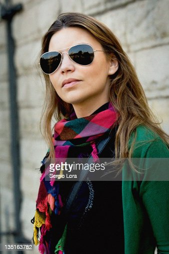 Portrait of woman with glasses : Stock Photo
