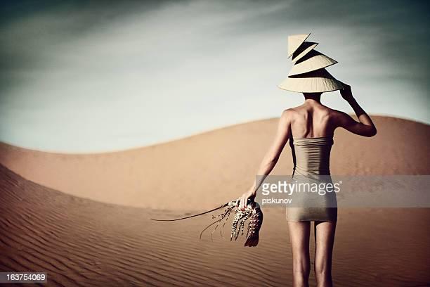 Portrait de femme avec du homard