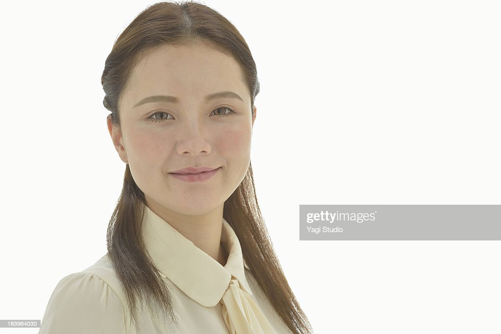 Portrait of woman,smiling : Stock Photo