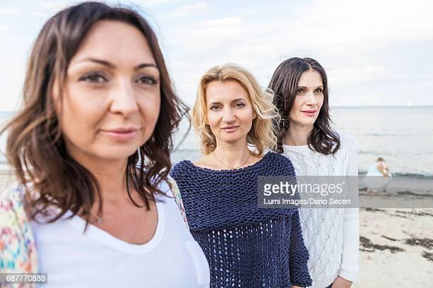 Portrait of women on beach