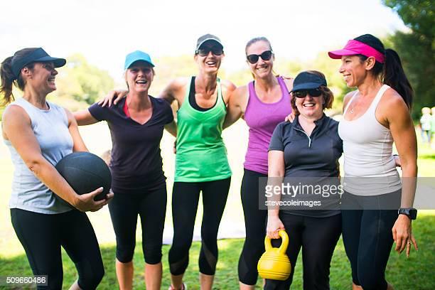 Portrait of Women's Fitness Class