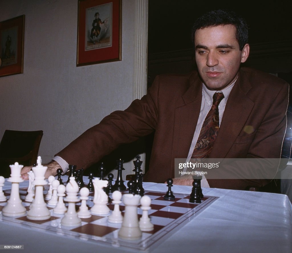 Portrait of World Chess Champion Gary Kasparov of Russia on 17 February 1993 in London, United Kingdom.