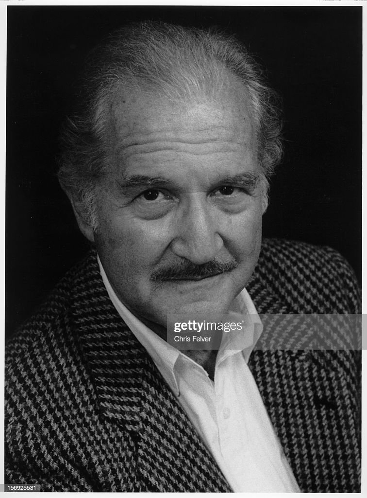Portrait of writer <a gi-track='captionPersonalityLinkClicked' href=/galleries/search?phrase=Carlos+Fuentes&family=editorial&specificpeople=602894 ng-click='$event.stopPropagation()'>Carlos Fuentes</a>, San Francisco, California, 1998.